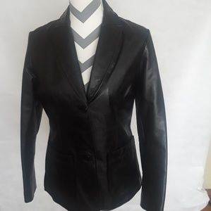 Gap Leather Blazer Jacket  Size XS